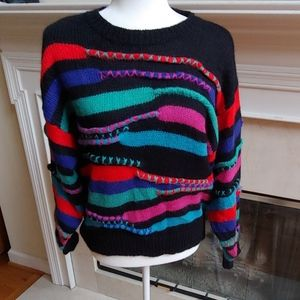 Vtg FABE. Sweater 3D Cosby Sweater